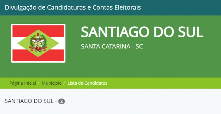Santiago do Sul confirma dois candidatos a prefeito