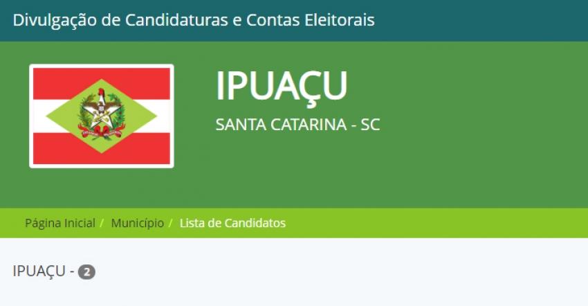 Ipuaçu confirma dois candidatos a prefeito