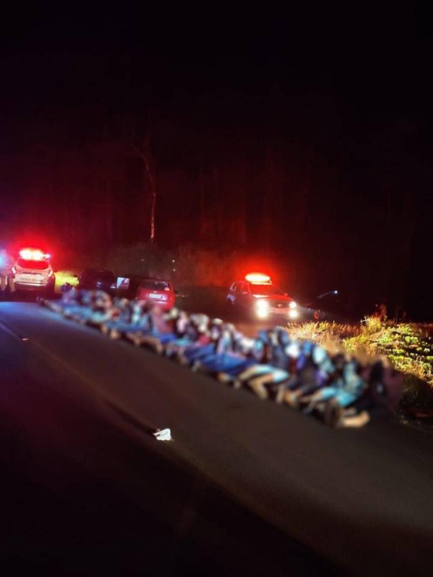 Polícia encerra festa com mais de 40 pessoas em Chapecó