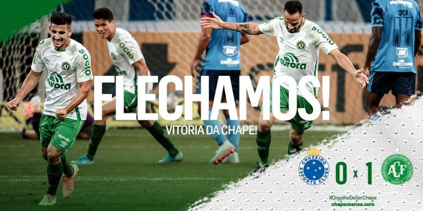 Chapecoense vence Cruzeiro e segue invicta na Série B