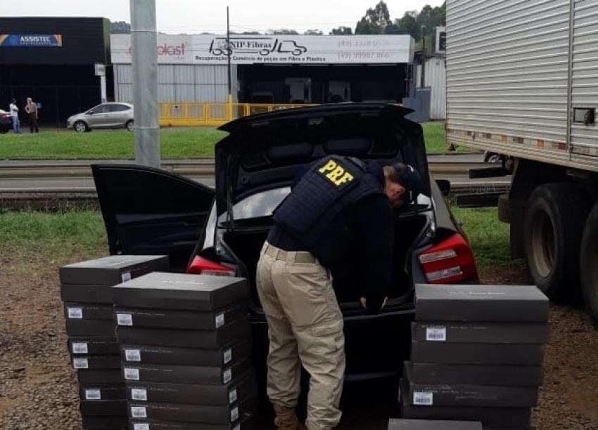 PRF apreende vinho argentino contrabandeado em Chapecó