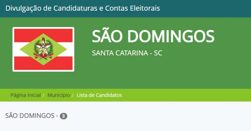 São Domingos confirma três candidatos a prefeito neste ano