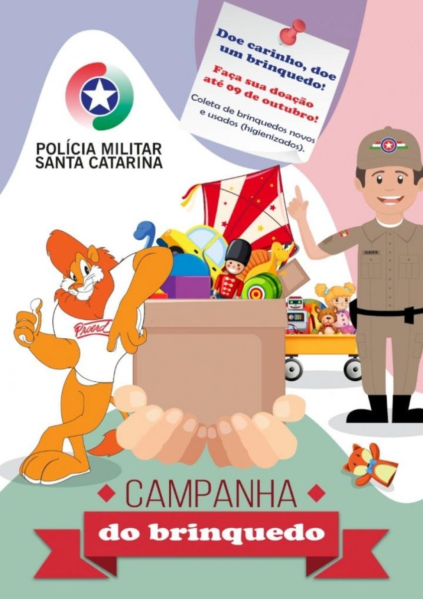 Polícia Militar faz campanha para arrecadação de brinquedos