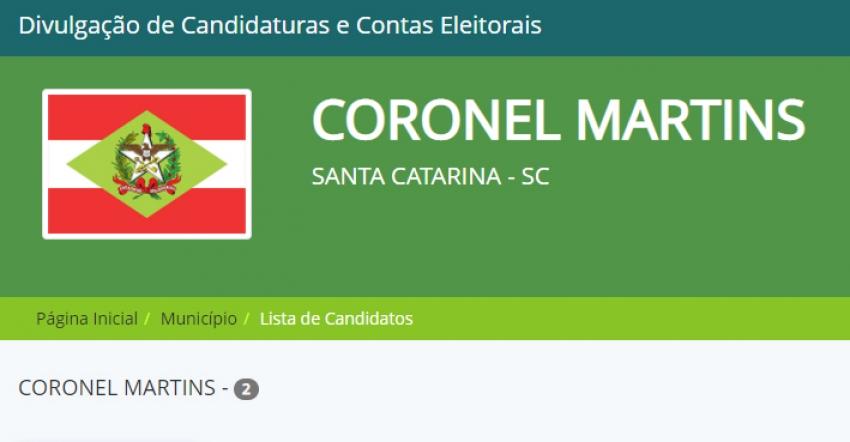 Coronel Martins confirma dois candidatos a prefeito