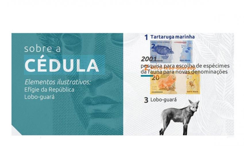 Nova cédula de R$ 200,00 entra em circulação na quarta-feira