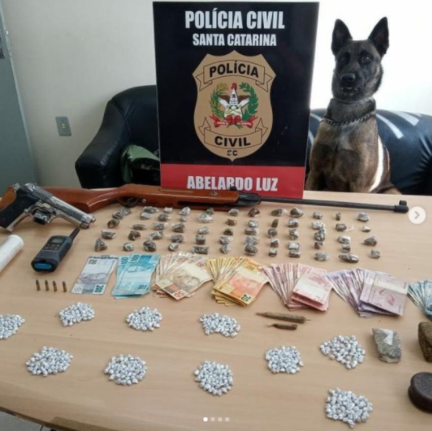 Polícia deflagra operação contra comércio ilícito de drogas em Abelardo Luz