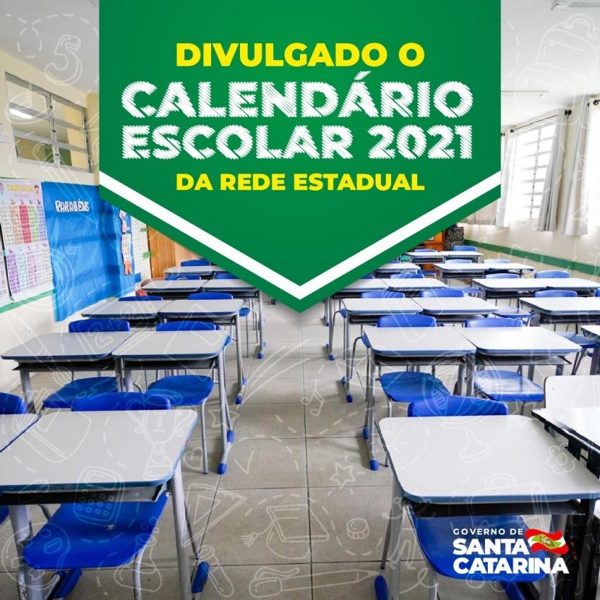 DIVULGADO O CALENDÁRIO ESCOLAR 2021 DA REDE ESTADUAL