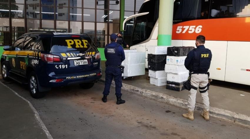 PRF apreende pescados sendo transportados sem refrigeração em Chapecó