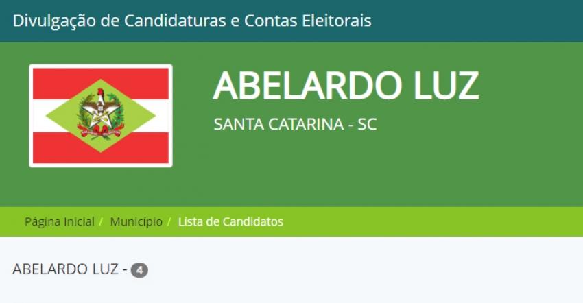 Abelardo Luz confirma quatro candidatos a prefeito