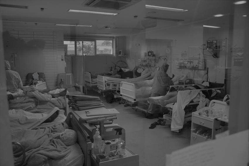 Todos os setores do hospital de Xanxerê estão superlotados