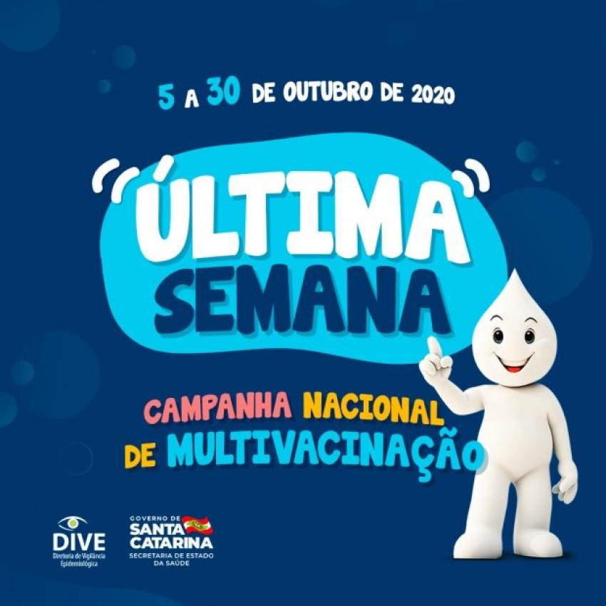 Campanhas de Multivacinação e Vacinação contra a Poliomielite terminam nesta sexta