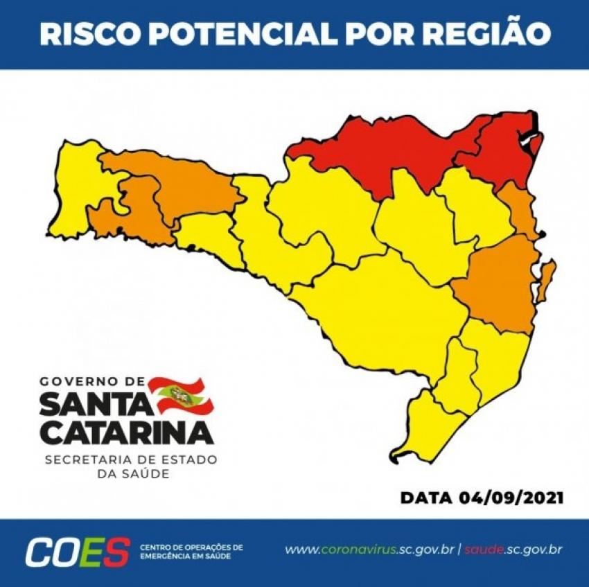 Matriz de Risco aponta duas regiões em nível gravíssimo