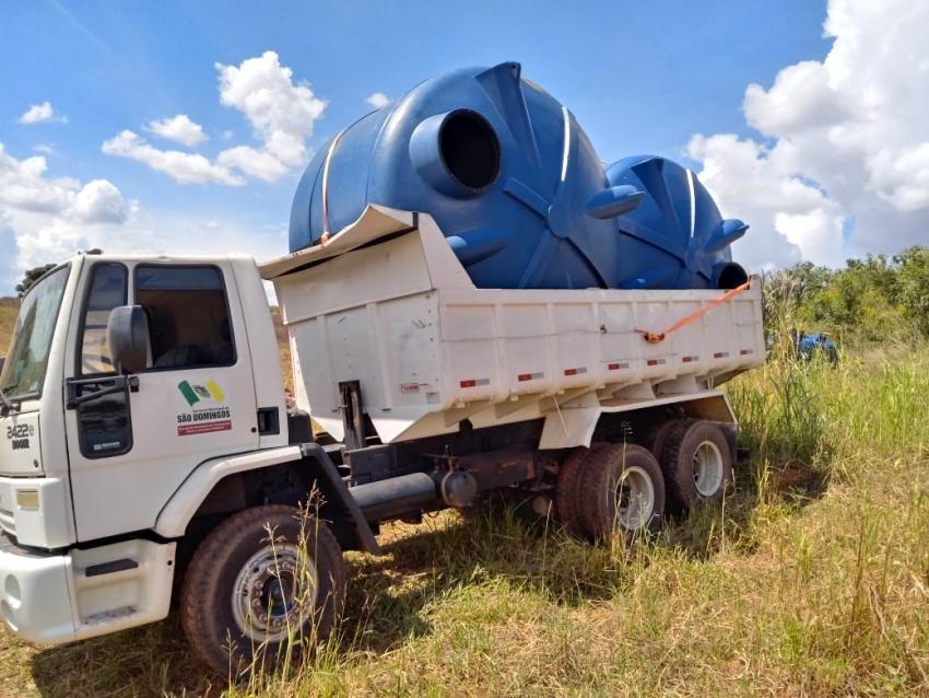 Defesa Civil envia caixas d'água para São Domingos