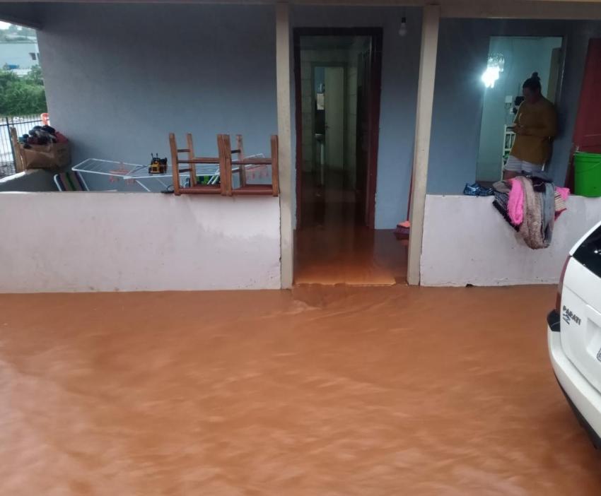 Alagamentos são registrados em Xanxerê