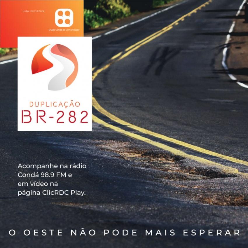 Força-tarefa entre veículos de comunicação do Oeste organiza campanha pela duplicação da BR-282